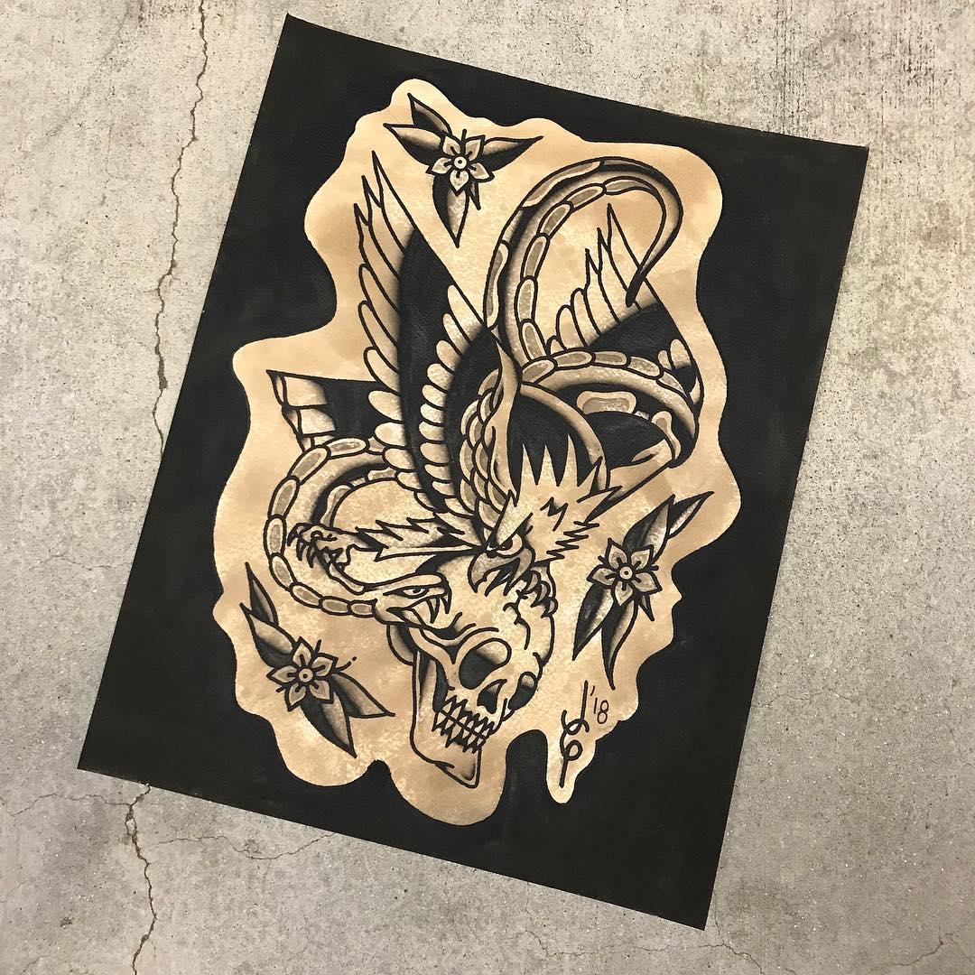 原创手稿                        搞仪表销售的广先生鳌鱼纹身手稿